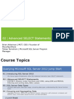 Advanced SELECT Statements SQL SERVER
