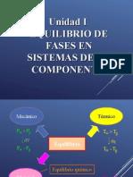 Unidad i Equilibrio de Fases de Sistemas de Un Componente