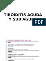 TIROIDITIS AGUDA