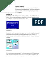 Generaciones Microsoft Windows