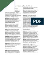 Defense Mechanisms From the DSM