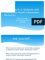 Connecting K-12 Students with Community Health Information Resources