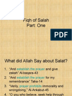 Fiqh of Salah Part 1