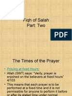 Fiqh of Salah Part 2