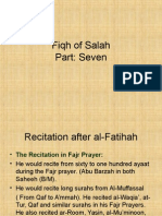 Fiqh of Salah Part 7