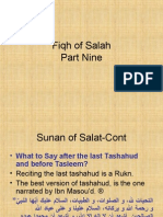 Fiqh of Salah Part 9