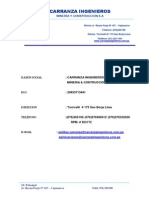 Brochure Carranza Ingenieros s.A