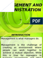 Mangement and Administration