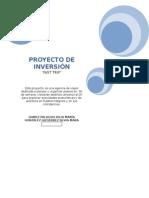 Proyecto de Inversión Caratula