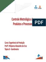 Metrologia Dimensional - Goniômetro