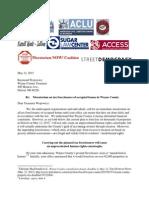 Aclu Letter re Tax Foreclosure Moratorium
