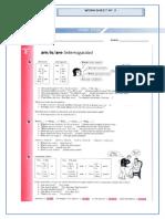 Worksheet 2 -Verb to Be