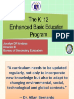 Dir Jocelyn Dr Andaya-K to 12 Basic Education Program