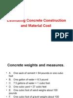 Estimating Concrete Material Cost Course 01421-6.4