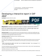 Developing a Interactive report in SAP ABAP.pdf
