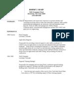 RJG Prof Resume 2008