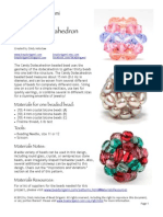 Bead Origami Candy Dodecahedron Pattern