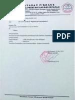 Surat permohonan kode registrasi
