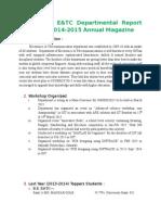 E&TC Magzine Data March15
