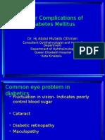 Eye Complications of Diabetes