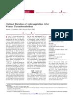 Duration of AntiCOAGULATION After Thromboembolism