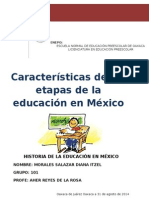 Etapas de La Educación en México