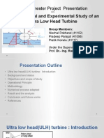 COMPUTATIONAL AND EXPERIMENTAL STUDY OF AN ULTRA-LOW HEAD TURBINE