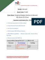 Braindump2go New Updated 70-465 Practice Tests Free Download (41-50)