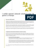 I conflict minerals e l'Europa