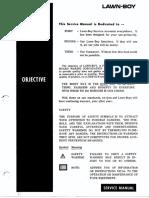 Lawn-Boy Service Manual 1950-88 Complete
