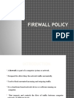Firewall Policy