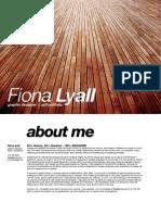 Fiona Lyall Cv