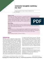 Continuous Noninvasive Hemoglobin Monitoring