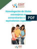 Homologacion de titulos No Universitarios