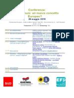 Conferenza sui beni comuni. Bruxelles, 26 maggio 2015