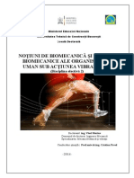 NOȚIUNI DE BIOMECANICĂ ȘI MODELE BIOMECANICE ALE ORGANISMULUI UMAN SUB ACȚIUNEA VIBRAȚIILOR (Disciplina electivă 2)