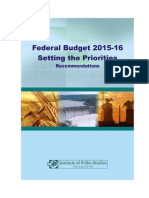 Budget 2015-16 Setting the Priorities