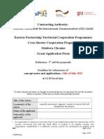 Annex a Grant Application Form