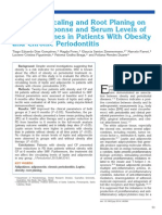 Effects of Scaling and Root Planing on Clinical Response and Serum Levels of Adipocytokines in Patients With Obesity and Chronic Periodontitis
