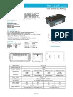 Acumulator Pentru Turbina Eoliana 12V 230Ah BSB VRLA