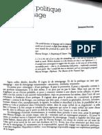 """DERRIDA, """"Poétique et politique du témoignage"""""""