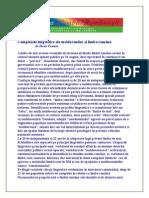 Complexele Lingvistice Ale Moldovenilor Şi Limba Română