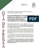 150522 NP- Elecciones Municipales Coslada 2015