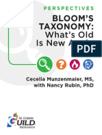 Bloom Taxonomy What's Old is New Again