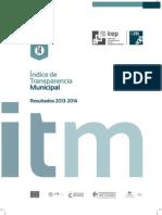 Índice de Transparencia Municipal Resultados 2013-2014