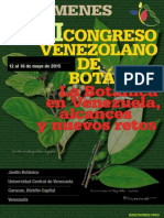 Xxi Congreso Venezolano de Botanica 2015 Resumenes