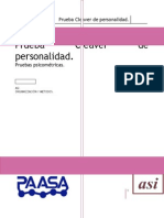 Manual de Aplicación de La Prueba Cleaver de Personalidad