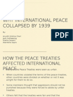 Why International Peace Collapsed by 1939