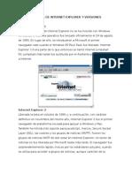 Versiones de Internet Explorer