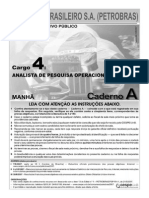 Cespe 2007 Petrobras Analista de Pesquisa Operacional Junior Prova